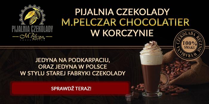 PIJALNIA CZEKOLADY Korczyna w stylu fabryki starej fabryki czekolady