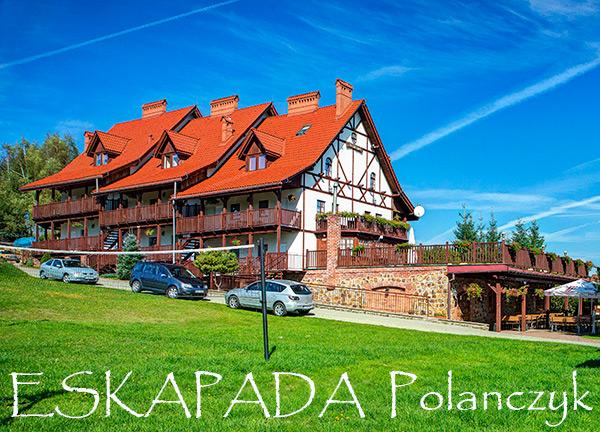 Hotel ESKAPADA - hotel na wzgórzu z pięknym widokiem i 300m od Zalewu Solińskiego