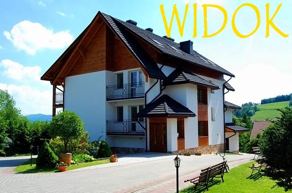 WIDOK - domki i pokoje w centrum Polańczyka z widokiem na Zalew Soliński i góry!