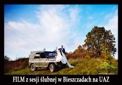 Niepowtarzalna SESJA ŚLUBNA w Bieszczadach podczas Wyprawy UAZ-em