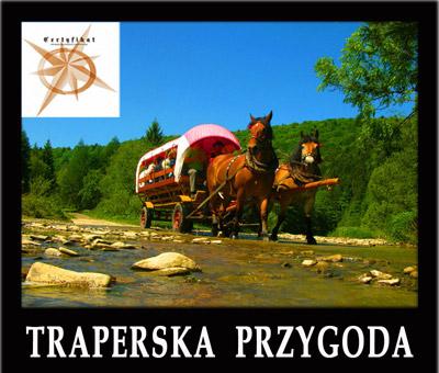 Wycieczka 1-dniowa TRAPERSKA PRZYGODA z niepowtarzalnym przejazdem wozami z końmi, Jeziorkami Duszatyńskimi i innymi atrakcjami