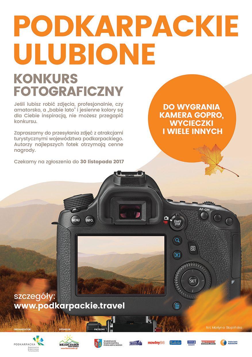 KONKURS FOTOGRAFICZNY plakat - Podkarpackie 4 pory roku - sceneria jesienna