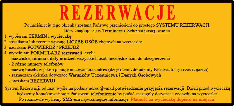 Prosty SYSTEM REZERWACJI wycieczek 1-dniowych, kuligów i wędrówek na rakietach śnieżnych po Bieszczadach.