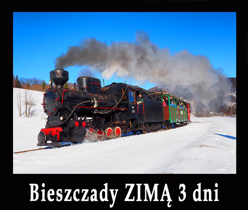 Bieszczady ZIMĄ w 3 dni - propozycje najlepszych atrakcji regionalnych z m.in. kuligami, kolejką leśną, rakietami śnieżnymi, wyciągami...