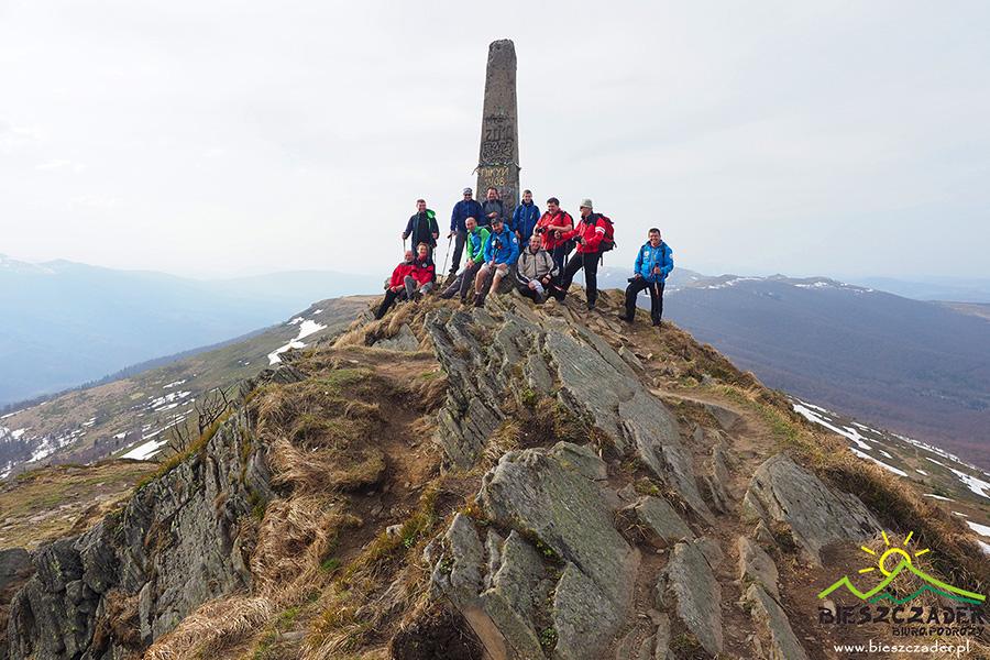 Grupa na najwyższym szczycie Bieszczad na Ukrainie - PIKUJ 1408m.