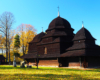 Cerkiew w Równi widzimy z okien autokaru na wycieczce jednodniowej Drezynami Po Bieszczadach.