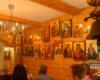 Jedna ze ścian pracowni ikon w Cisnej, którą odwiedzamy na wycieczce jednodniowej po Wielkiej Obwodnicy Bieszczadzkiej.