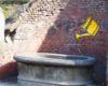 Najstarsze lwy we Lwowie przy fontannie, obok których przejeżdżamy na wycieczce jednodniowej po Lwowie, jadąc w stronę Łyczakowa.