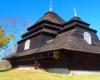 Cerkiew drewniana w miejscowości Użok z 1745 r. wpisana na UNESCO - na wycieczce jednodniowej w Bieszczady ukraińskie Kolej Zakarapcka.