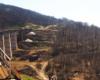 Najwyższy wiadukt kolejowy na trasie kolei zakarpackiej między miejscowościami Sianki, a Wołosianka.