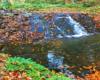 Największa kaskada (można by powiedzieć forma wodospadu) na potoku Olchowym zwanym również Olchowatym. Wodospad znajduje się obok szlaku czerwonego (głównego beskidzkiego) prowadzącego do Jeziorek Duszatyńskich w rezerwacje Zwiezło, czyli na zboczach góry Chryszczata. Wodospad podziwiamy podczas wycieczki jednodniowej po Bieszczadach - Traperska Przygoda.