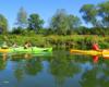 Zdjęcie wykonane na spływie kajakami po rzece San, czyli wycieczce jednodniowej, która została Najlepszym Produktem Turystycznym Podkarpacia i Polski w 2017 roku.