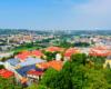 Taką panoramę Przemyśla, który jest położony na 7 wzgórzach jak Rzym, a pośrodku płynie rzeka San, podziwiamy z parku obok zamku przemyskiego.