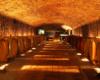 Wnętrze innej piwnicy, w której organizujemy degustację win tokajskich.