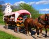 Kończąc przejazd dyliżansami po Bieszczadach zatrzymujemy się na zwiedzanie cerkwi w Smolniku. Jest to jedna ze świątyń znajdujących się na Szlaku Ikon Doliny Rzeki Osława. Wchodzimy do wnętrza cerkwi.