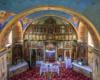 Wnętrze cerkwi w Smolniku pw. Św. Mikołaja. Nie tylko oglądamy, ale też turyści mogą posłuchać niezwykłych opowieści przewodnika. A wszystko na wycieczce jednodniowej po Bieszczadach - Traperska Przygoda.