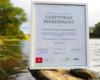 Taki dyplom dostaliśmy i sfotografowaliśmy na brzegu rzeki Osława za wycieczkę jednodniową WODAMI rzeki San! po Bieszczadach.