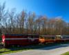 Kolejka wąskotorowa Pogórzanin sfotografowana gdzieś na trasie przejazdu między Przeworskiem, Kańczugą, a Przeworskiem podczas realizacji wycieczki jednodniowej Kolej Na Łańcut zorganizowanej dla turystów z Bieszczad.