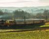 Kolejka wąskotorowa Pogórzanin na trasie z Dynowa w stronę Przeworska. Zdjęcie wykonaliśmy jadąc drogą publiczną podczas organizowanej przez nas wycieczki jednodniowej z Bieszczad o nazwie Kolej Na Łańcut.