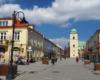 Część Paniagi, czyli reprezentacyjnej ulicy / deptaku w centrum Rzeszowa. Tę ulicą zawsze turyści wędrują z przewodnikiem na wycieczce Kolej Na Łańcut.