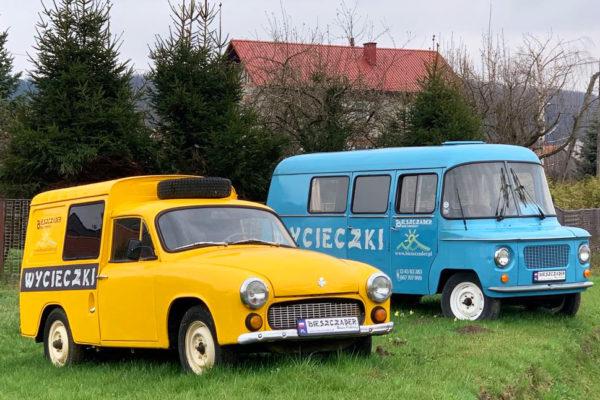 Punkty rezerwacji wycieczek jednodniowych Biura Podróży BIESZCZADER w samochodach Nysa i Syrena w Polańczyku oraz Solinie.