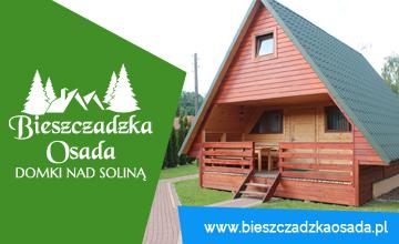 BIESZCZADZKA OSADA czyli noclegi w drewnianych chatkach w miejscowości Bóbrka koło Soliny.