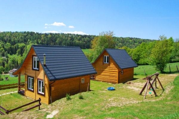 USTRZYKI DOLNE - Chata Bieszczady, czylil noclegi w drewnianych domkach