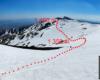 Trasa narciarska, po której jeździłem przez ponad 5h w paśmie Borżawa na Ukrainie.