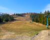 Na trasie wyciągu narciarskiego na zboczach góry Gimba w paśmie Borżawa śniegu 15 kwietnia 2019 już nie było...