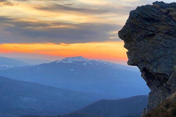 BUKOWE BERDO Bieszczady - skała przypominająca twarz człowieka