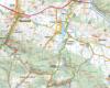 Część mapy Beskidu Niskiego autorstwa Wydawnictwa Compass z Krakowa, przedstawiająca najciekawsze atrakcje między Iwoniczem, Rymanowem, a Wolą Sękową - w tym poście oczywiście interesuje nas najbardziej region Rudawki Rymanowskiej.