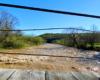 Widok w kierunku północnym z kładki linowej w Wysoczanach w stronę Rezerwatu Przyrody Przełom Osławy Pod Mokrem.
