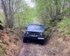 Wycieczka samochodem terenowym 4x4 UAZ wąwozem, drogą wokół miejscowości Morochów, czyli położonej na granicy Bieszczad i Beskidu Niskiego.
