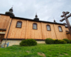 Cerkiew w Morochowie od strony południowej. To jedna z nielicznych zabytkowych świątyń na granicy Bieszczad i Beskidu Niskiego tak gruntownie odnowiona.