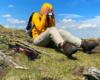 Na Bukowym Berdzie tak wiał wiatr, że chciał zdjąć kaptur i wywiać czapkę z daszkiem, ale widoki w Bieszczadzkim Parku Narodowym wychodząc z Mucznego, czyli w okolicach Ustrzyk Górnych były piękne.