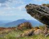 Tak pięknie wygląda Połonina Caryńska widziana dosłownie spod skały Bukowego Berda podczas wycieczki jednodniowej po Bieszczadzkim Parku Narodowym między Mucznem, a Ustrzykami Górnymi.