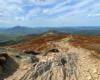 Zdjęcie przedstawiające szlak na Bukowym Berdzie i widok w stronę Połoniny Caryńskiej - zapraszamy na wycieczki jednodniowe po Bieszczadzkim Parku Narodowym.
