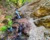 To potoczek tworzący wodospad Jana Pawła II w Rudawce Rymanowskiej. Warto wspiąć się po śliskich skałkach by zobaczyć bieg potoku powyżej doliny rzeki Wisłok, ale trzeba być bardzo ostrożnym i mieć dobre buty...