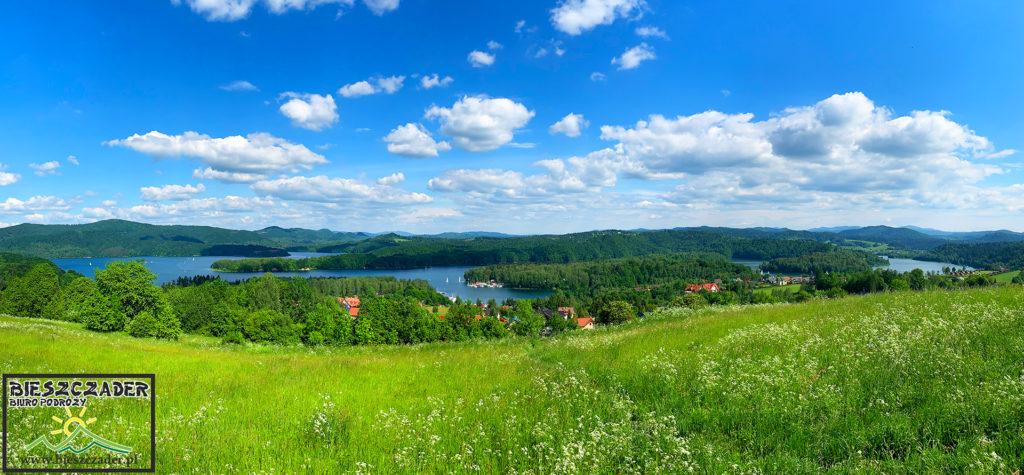 Jeden z najpiękniejszych widoków na Zalew Soliński z góry Wierchy 635m znajdującej się na szlaku zielonym między Myczkowem, a Wołkowyją...