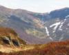 Kopa Bukowska i Krzemień podziwiane z Bukowego Berda - w kalendarzu 10 maj, a na północnych zboczach jeszcze resztki śniegu pozostałego po zimie...