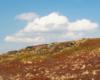 Samotny wędrowca na szlaku przebiegającym przez Bukowe Berdo w Bieszczadzkim Parku Narodowym i te chmurki na niebie...
