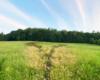 Gdy staniemy na łące serce na granicy Soliny, Myczkowiec i Bóbrki nie wygląda tak imponująco jak z powietrza, czy z drogi prowadzącej z Bóbrki do Myczkowiec...