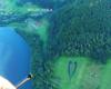 Zdjęcie serca na granicy Myczkowiec, Soliny i Bóbrki sfotografowane podczas lotu paralotnią nad Bieszczadami z Leska nad Zalew Soliński.