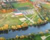 Aquapark Aquarius, czyli baseny w Lesku i stadion piłkarski - to jeden z nielicznych basenów w Bieszczadach.
