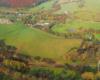 Zdjęcie Wysoczan wykonane podczas lotu paralotnią na pograniczu Bieszczad i Beskidu Niskiego z niepowtarzalnymi kolorami jesieni.