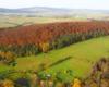 Czyż kolory jesieni w Wysoczanach nie są piękne? - zdjęcie wykonane podczas lotu paralotnią nad granicą między Bieszczadami, a Beskidem Niskim.