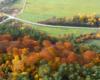 Skrzyżowanie w Wysoczanach przy drodze prowadzącej ze Szczawnego w stronę Rymanowa i Bukowska oraz niepowtarzalne kolory jesieni Beskidu Niskiego...