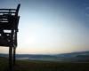 Wieża widokowa na szczycie góry Żurawinka dominującej nad Wysoczanami - teren prywatny Rancho Quadzik.