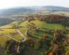 Zdjęcie Kulasznego z lotu paralotnią nad Bieszczadami.