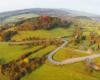 Góra Kiczera znajdująca się tuż obok serpentyn w Kulasznem - zdjęcie z paralotni lotu nad Bieszczadami.